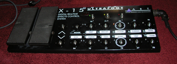 X-15 modified foot controller